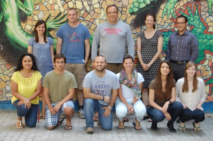 The administrative team of La Academia de España 2013