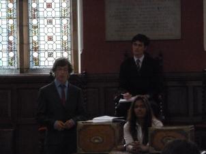First speaker, Julian makes an excellent case
