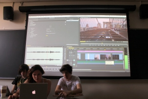 Filmmakers group editing