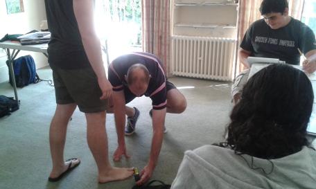 Measuring toe distances
