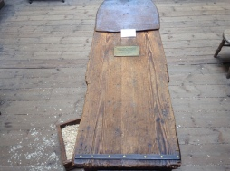 The original (and surprisingly small) operating table in use from 1822.