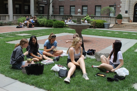 Lunch in the quad