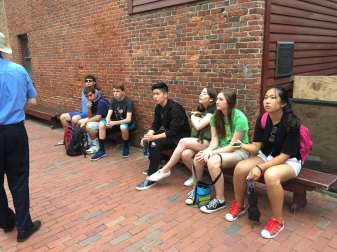 Students at the Paul Revere House