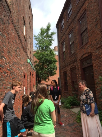 Students at the Piece-Hichborn House