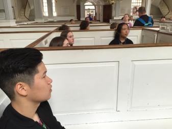 Students at the North Church