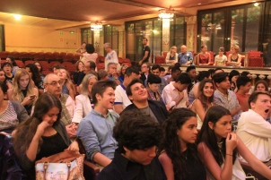 Students before the flamenco show.