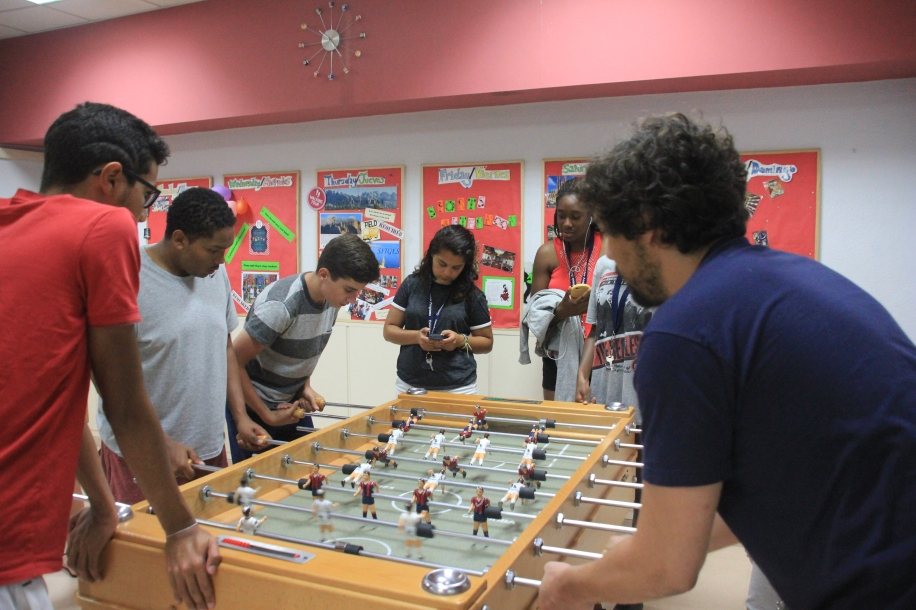 Students and professors competed.